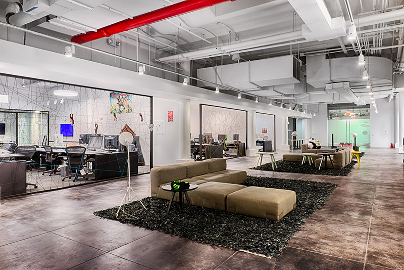 Spotify's office in New York. Image courtesy of FOX Architects.