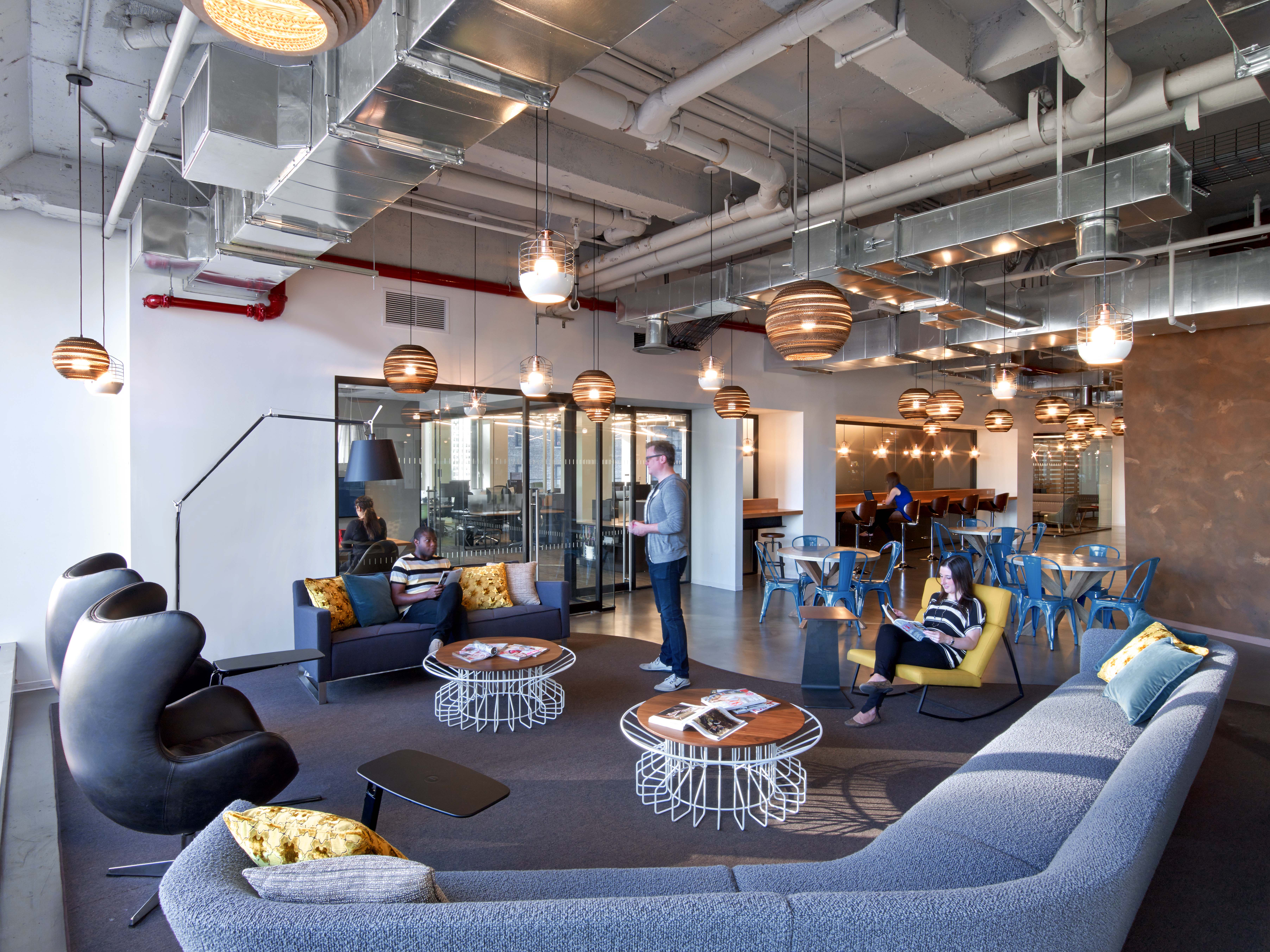 Cond nast entertainment 39 s rustic open nyc office - Office industrial ...