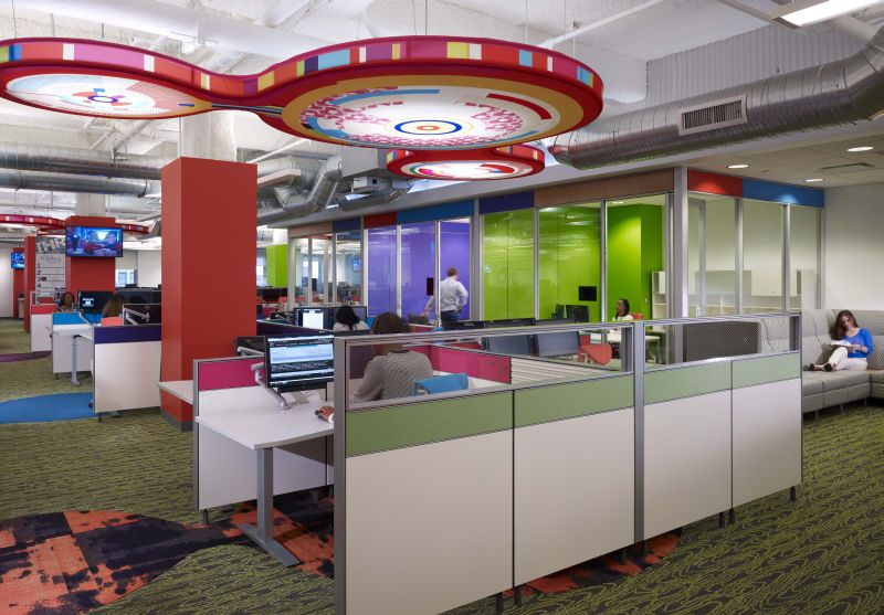 Quicken loans 39 office renovation revitalizes detroit building - Interior design jobs in michigan ...
