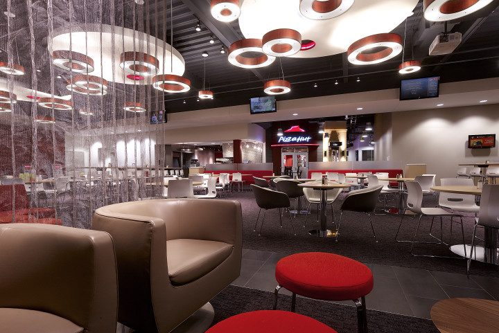 The cafe at Pizza Hut's corporate HQ. Image courtesy of JLL.