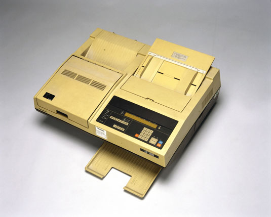 The Panasonic 'UF 800' fax machine, 1985. Image via Science Museum's Science & Society picture library.