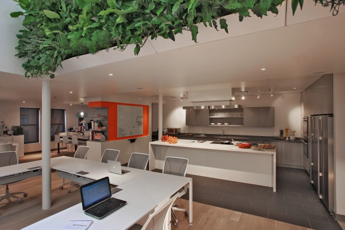 ThinkFoodGroup's space is designed to support their creative process. Image courtesy ThinkFoodGroup.