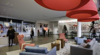 American Greetings brand is carried through the design of its new worldwide headquarters.