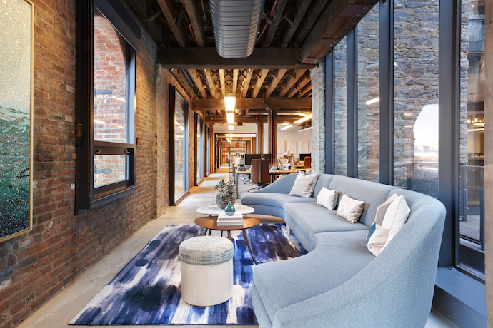 VMAD created a space that reflected West Elm's desire to project more of an art gallery vibe, less of an office feel. Image courtesy of Garrett Rowland.