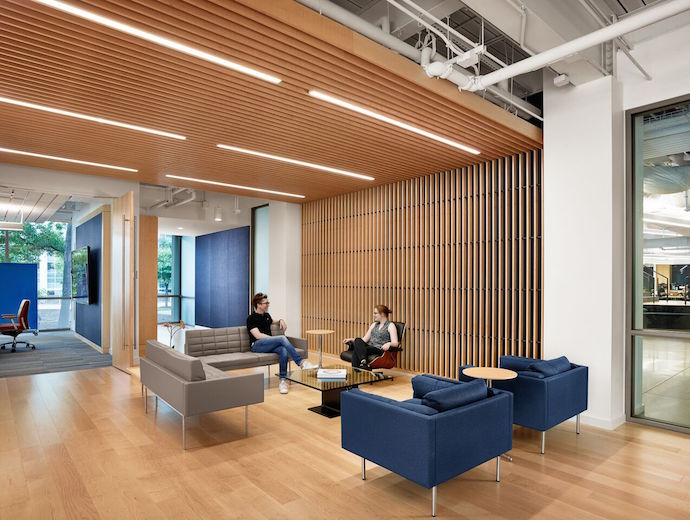 Breakout areas encourage interaction. Image courtesy of Casey Dunn.