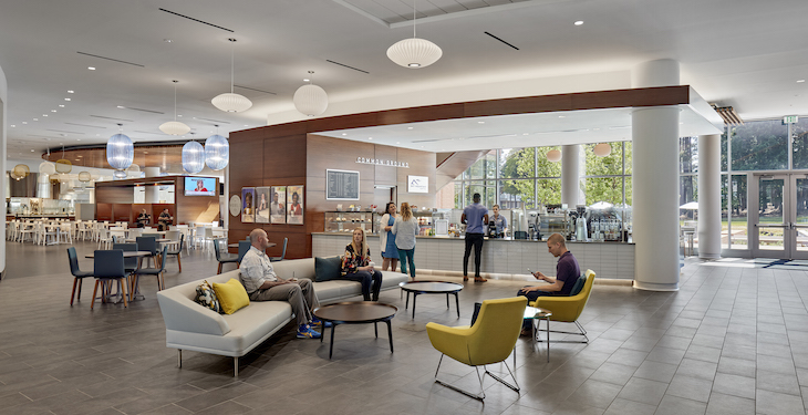 The type and configuration of furniture in the new HQ is aimed at increasing interaction and collaboration. Image courtesy of RTI.